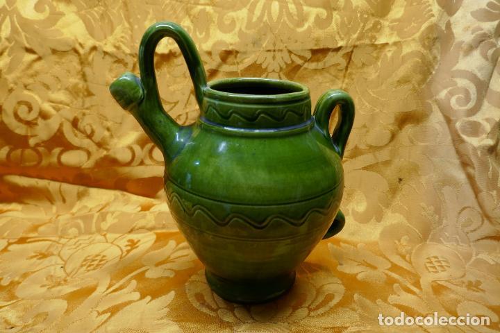 Antigüedades: BOTIJO VERDE DE CERAMICA VIDRIADA, HERMANOS ALMARZA UBEDA - Foto 6 - 253950415