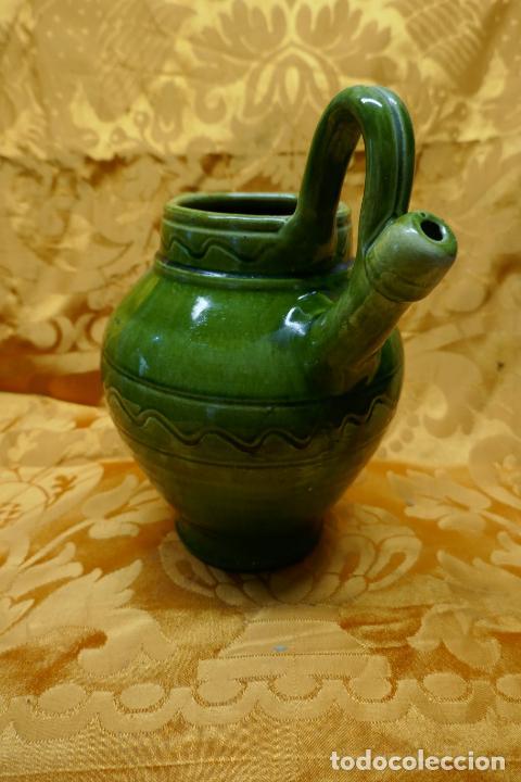 Antigüedades: BOTIJO VERDE DE CERAMICA VIDRIADA, HERMANOS ALMARZA UBEDA - Foto 8 - 253950415