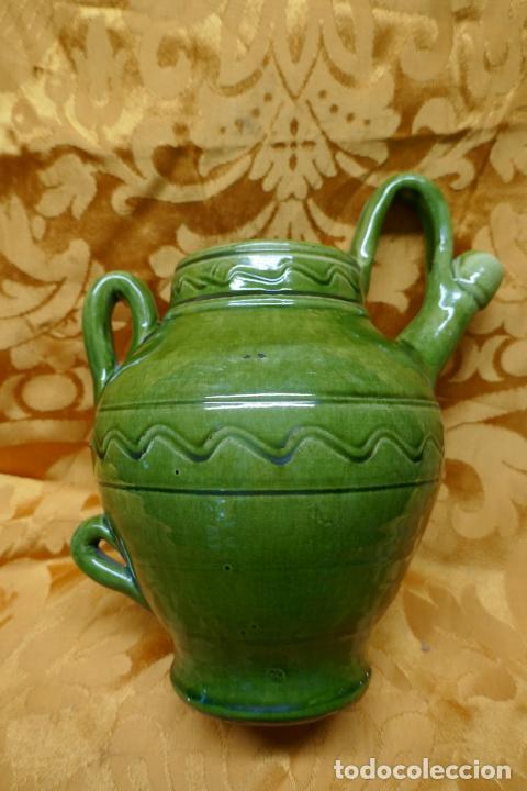 Antigüedades: BOTIJO VERDE DE CERAMICA VIDRIADA, HERMANOS ALMARZA UBEDA - Foto 9 - 253950415