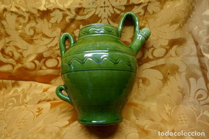Antigüedades: BOTIJO VERDE DE CERAMICA VIDRIADA, HERMANOS ALMARZA UBEDA - Foto 10 - 253950415