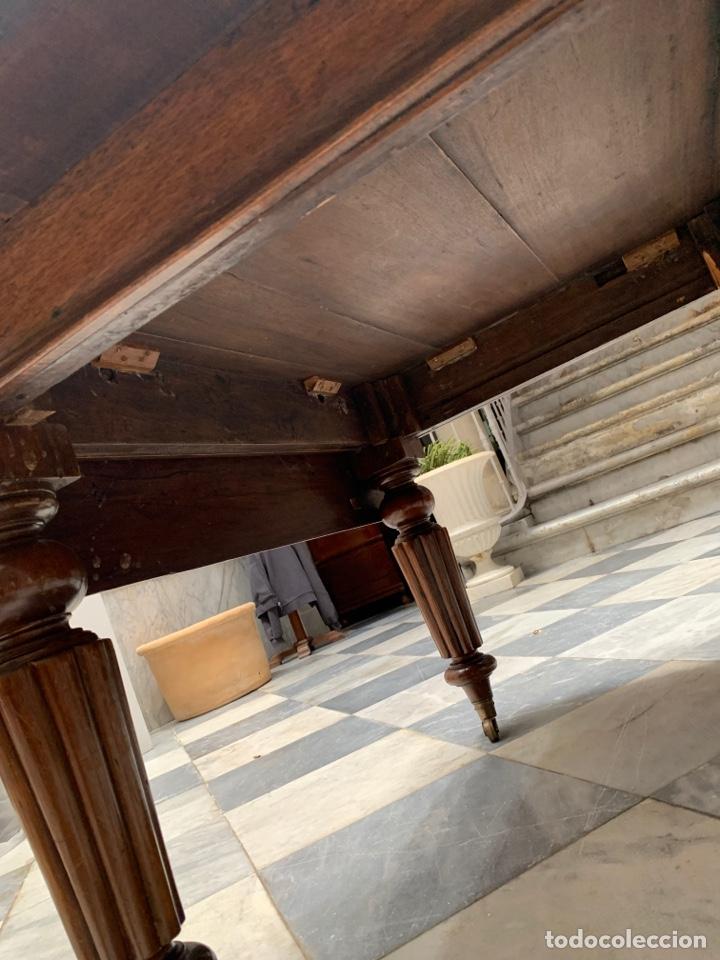 Antigüedades: MESA DE COMEDOR INGLESA, CAOBA - Foto 5 - 253983215