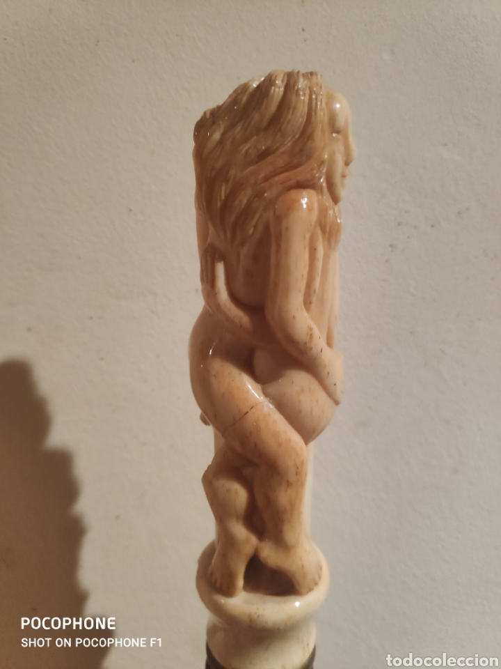 Antigüedades: Antiguo bastón erótico en hueso vara en madera - Foto 10 - 253995645