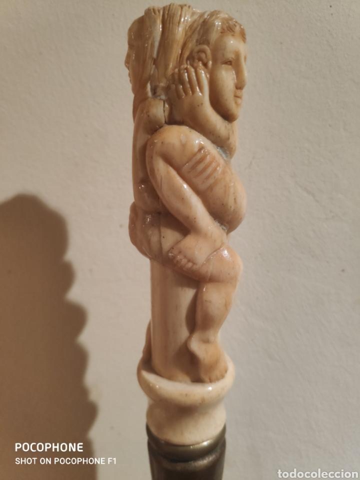 Antigüedades: Antiguo bastón erótico en hueso vara en madera - Foto 11 - 253995645