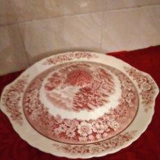 Antigüedades: ANTIGUA LEGUMBRERA DE PORCELANA MEMORY LANE BRITISH ANCHOR ,1900. ROJO. Lote 253999645