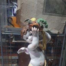 Antigüedades: PRECIOSO ANGEL QUERUBIN PORCELANA ALGORA CON SELLO Y NUMERO LEER DESCRIPCION. Lote 254003745