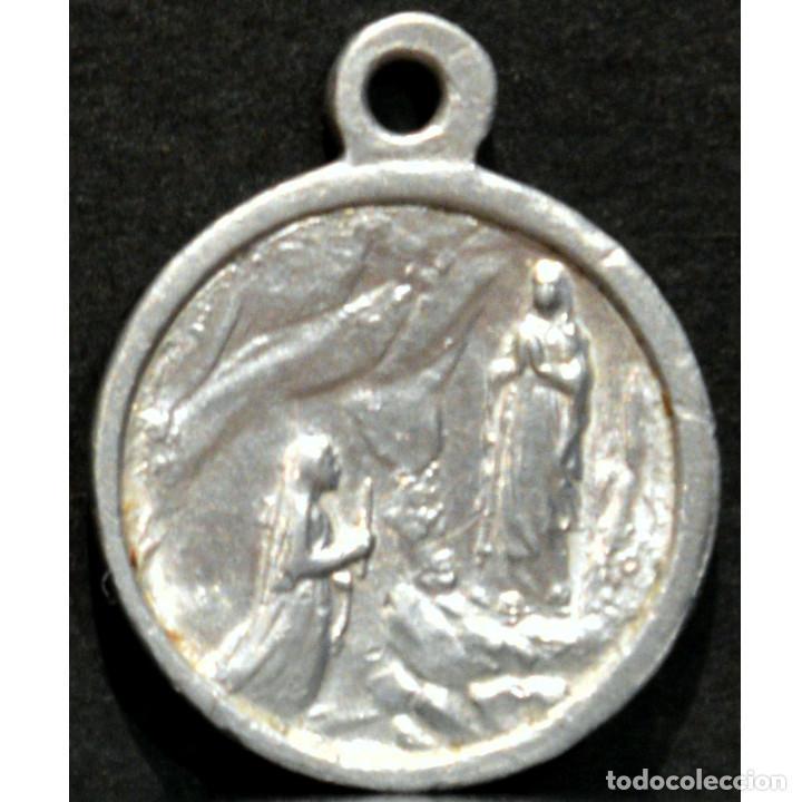 Antigüedades: ANTIGUA MEDALLA VIRGEN DE LOURDES - Foto 2 - 254013740