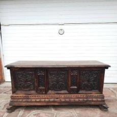 Antigüedades: ARCA DE NOVIA CATALANA DE NOGAL S. XVIII. Lote 254046290
