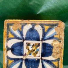 Oggetti Antichi: AZULEJO DE TRIANA. CON DEFECTOS RESEÑADOS EN FOTOS. Lote 254084460