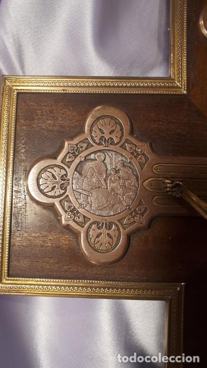 Antigüedades: Crucifijo y pila benditera. - Foto 3 - 254085970