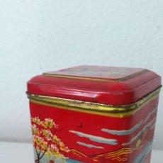 Antigüedades: NTIGUA CAJA DE TE EN HOJALATA CHINA. Lote 254088720