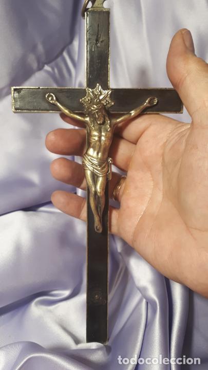 Antigüedades: Crucifijo conventual siglo XVIII. - Foto 2 - 254103495