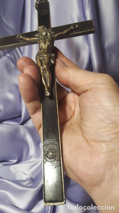 Antigüedades: Crucifijo conventual siglo XVIII. - Foto 3 - 254103495