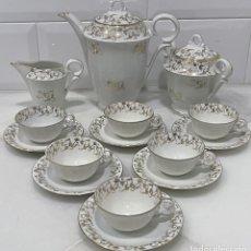 Antigüedades: ANTIGUO JUEGO DE CAFÉ PORCELANA FRANCESA LIMOGES XIX. Lote 254105215