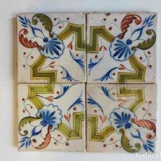 Antigüedades: AZULEJO VALENCIANO ANTIGUO SIGLO XIX. Lote 254108810