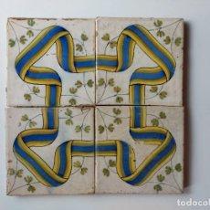 Antigüedades: AZULEJO VALENCIANO ANTIGUO SIGLO XIX. Lote 254108855