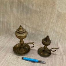 Antigüedades: LOTE DOS QUINQUES-CANDILES DE ACEITE!. Lote 254125545