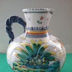 Antigüedades: JARRA EN CERÁMICA ESMALTADA. TALAVERA. MACHUCA.. Lote 254130170