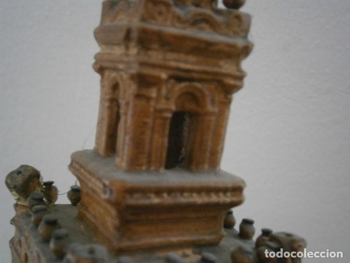 Antigüedades: PRECIOSA TORRE DE BARRO, PARA RESTAURAR. AÑOS 60/70 APROX. - Foto 22 - 254130485
