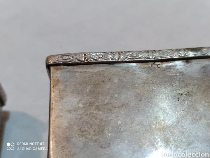 Antigüedades: Antigua pareja de servilleteros de plata de ley siglo XIX - Foto 10 - 254190155