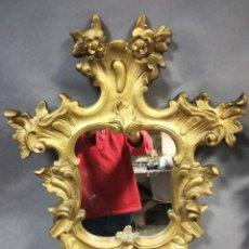 Antigüedades: ESPEJO CORNUCOPIA DORADA SIGLO XIX. Lote 254190165