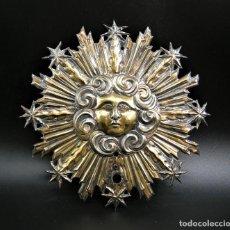 Antigüedades: IMPORTANTISIMO NIMBO EN PLATA SOBREDORADA S.XVII-XVIII. Lote 254211120