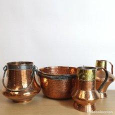 Antigüedades: CALDEROS Y JARRAS DE COBRE. Lote 254229115