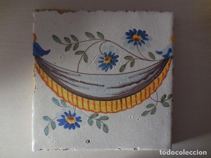 AZULEJO. FÁBRICA DE VALENCIA. PP. SIGLO XIXI. BUENA CONSERVACIÓN. ORIGINAL¡¡¡¡ (Antigüedades - Porcelanas y Cerámicas - Azulejos)
