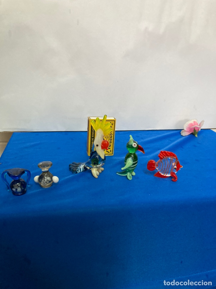 Antigüedades: Lote de Cristal de murano, 5 piezas pequeñas años 60 - Foto 7 - 254254115