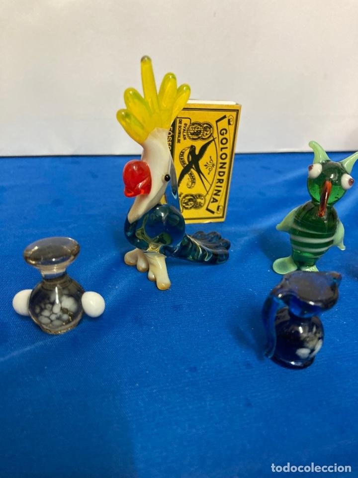 Antigüedades: Lote de Cristal de murano, 5 piezas pequeñas años 60 - Foto 8 - 254254115
