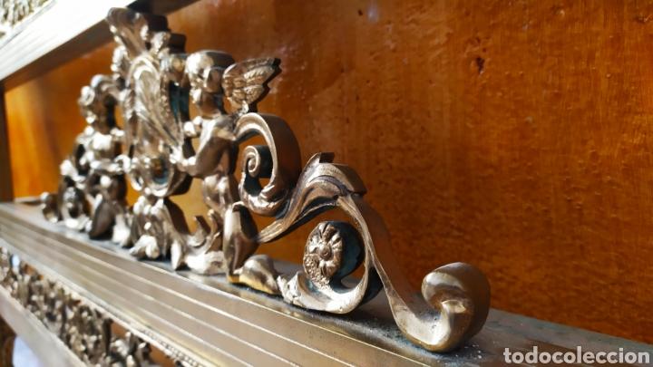 Antigüedades: Cama/Cabecero y Pie en Bronce, Metal y Latón. - Foto 9 - 254333680