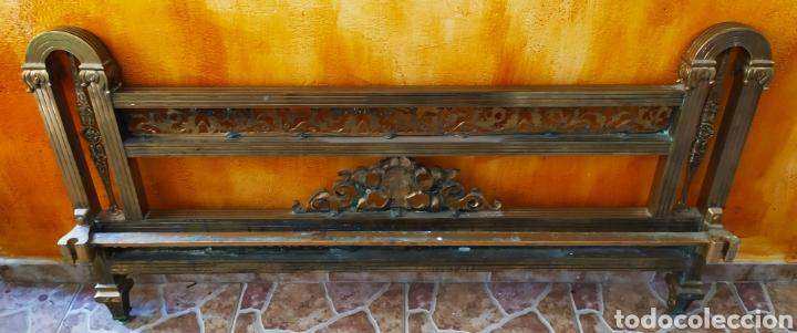 Antigüedades: Cama/Cabecero y Pie en Bronce, Metal y Latón. - Foto 11 - 254333680