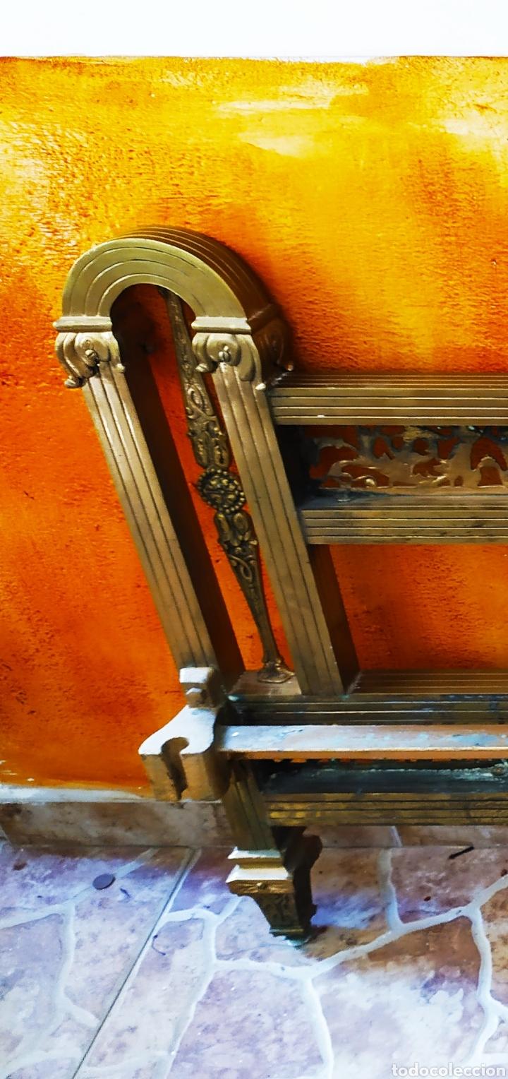 Antigüedades: Cama/Cabecero y Pie en Bronce, Metal y Latón. - Foto 12 - 254333680