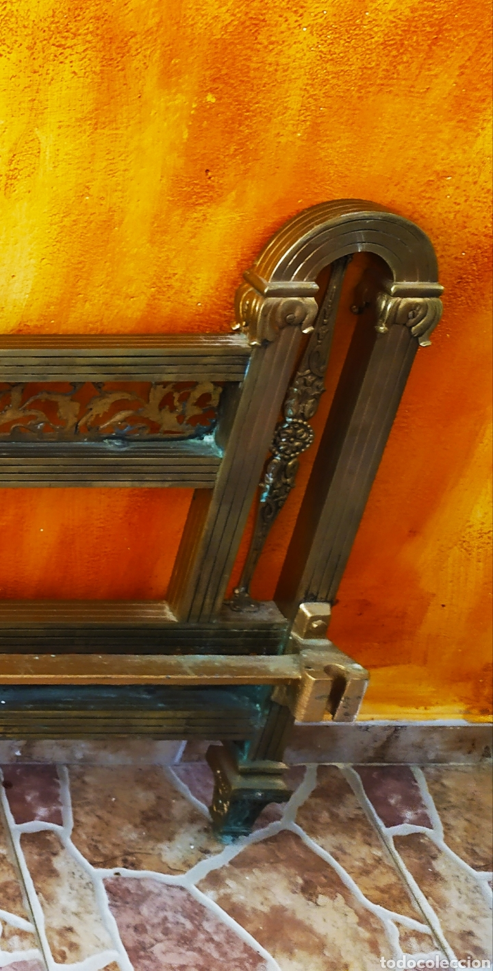 Antigüedades: Cama/Cabecero y Pie en Bronce, Metal y Latón. - Foto 13 - 254333680