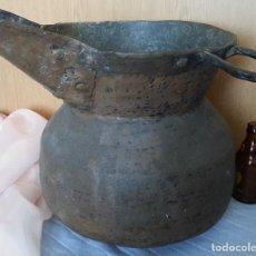 Antigüedades: CARBONERA ANTIGUA EN COBRE. CENTENARIA.. Lote 254341465