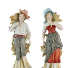 Antigüedades: PRECIOSA PAREJA DE BISCUITS TURINGIA SCHEIBE ALSBACH AÑOS 1900. Lote 141890610