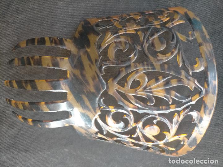 Antigüedades: ANTIGUA Y PRECIOSA PEINETA PARA MANTILLA ESPAÑOLA 18,8 X 16 CM - Foto 27 - 254385810
