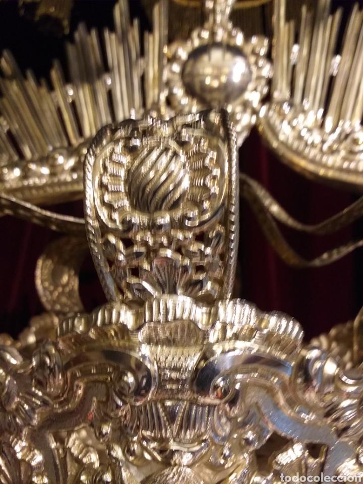 Antigüedades: IMPRESIONANTE CORONA LABRADA PARA IMAGEN TAMAÑO REAL DE PROCESION - Foto 7 - 54688402