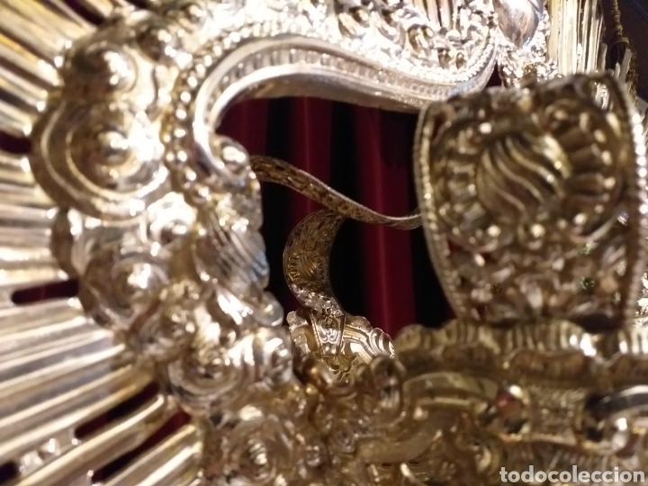 Antigüedades: IMPRESIONANTE CORONA LABRADA PARA IMAGEN TAMAÑO REAL DE PROCESION - Foto 8 - 54688402