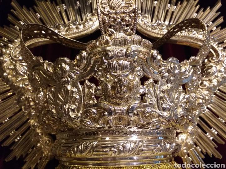 Antigüedades: IMPRESIONANTE CORONA LABRADA PARA IMAGEN TAMAÑO REAL DE PROCESION - Foto 13 - 54688402