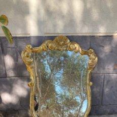 Antigüedades: PRECIOSO ESPEJO TIPO CORNUCOPIA,PAN DE ORO. Lote 254403575