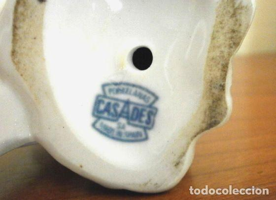 Antigüedades: Figura Niño con perro 22 cm - Porcelana Marca CASADES (estilo Lladro) - Foto 5 - 254425895