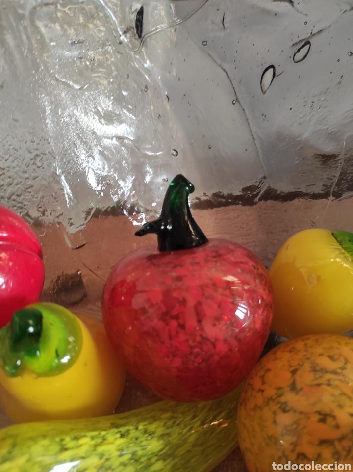 Antigüedades: Espectacular centro de mesa, con fruta y verduras, todas en cristal de Murano. Pieza única. - Foto 10 - 254430255