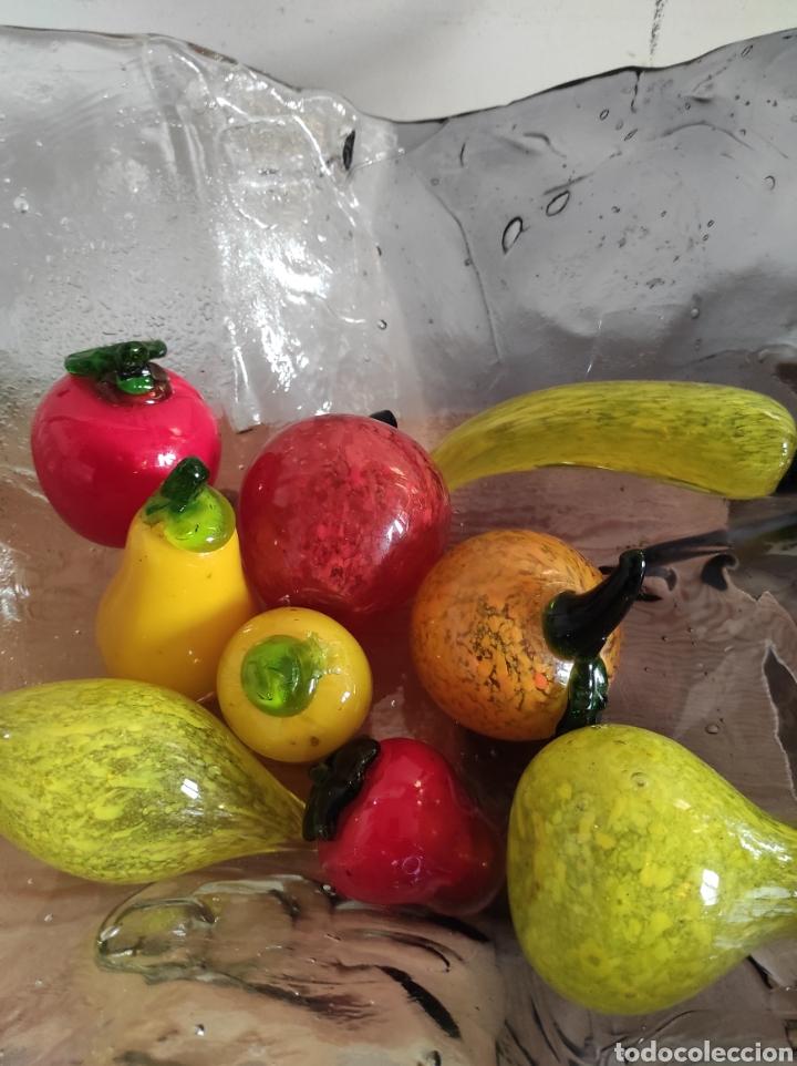 Antigüedades: Espectacular centro de mesa, con fruta y verduras, todas en cristal de Murano. Pieza única. - Foto 21 - 254430255
