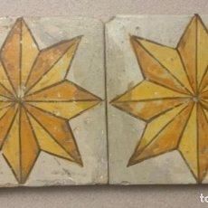 Antigüedades: PAREJA DIFÍCILES AZULEJOS CATALANES (S.XVIII). Lote 254433615