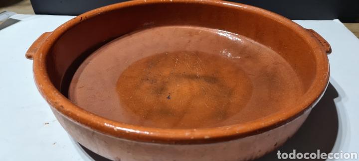 Antigüedades: Encantadora cazuela grande antigua de barro - Foto 2 - 254538950