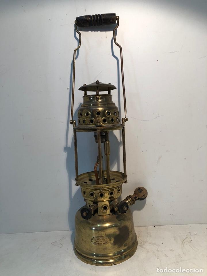 FOCUS, LAMPARA DE PETROLEO - TIPO 01 - BADALONA - ORIGINAL. ANTIGUA (Antigüedades - Iluminación - Lámparas Antiguas)