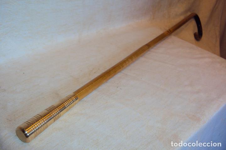 Antigüedades: Cachaba / garrota / baston gitano con virola - Foto 4 - 254561150