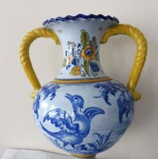 Antigüedades: ANTIGUO JARRÓN DE CERÁMICA - TALAVERA S.XX. Lote 254570605
