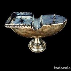 Oggetti Antichi: NAVETA DE PLATA ( 19 CM ). Lote 254576260