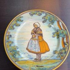 Antigüedades: TALAVERA RUIZ DE LUNA ANTIGUO Y PRECIOSO PLATO LAGARTERANA 27 CM DIÁMETRO , PERFECTO. Lote 254584450